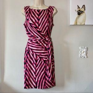 Diane Von Furstenberg Pink & Black Wrap Dress